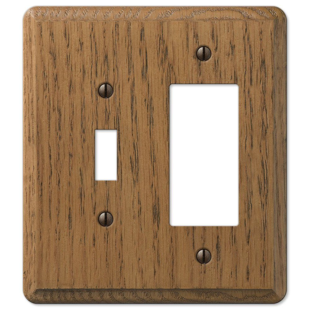 Wood Switch Plate Covers Wall Switch Plate Cover Medium Oak Wood Outlet Toggle Outlet